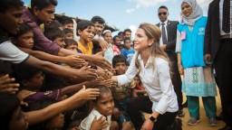 الملكة رانيا سفيرة للأعمال الانسانية