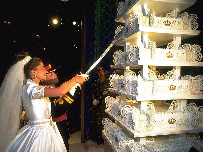 كيكة عرس الملكة رانيا