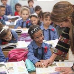 الملكة رانيا والتعليم