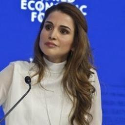 الملكة رانيا في مؤتمر الاقتصاد العالمي