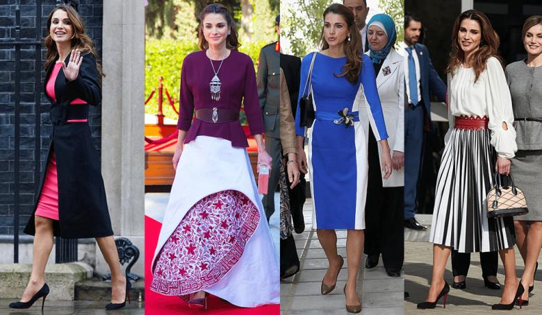 الملكة رانيا والأزياء