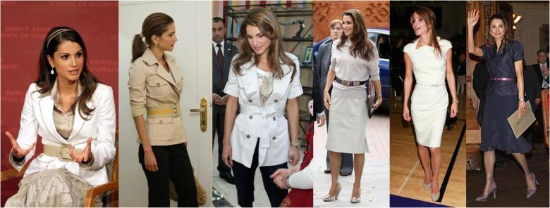 الملكة رانيا بطلات مختلفة خلال النهار