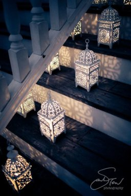 ramadan stairs decoration