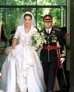 صورة عرس الملكة رانيا والملك عبدالله